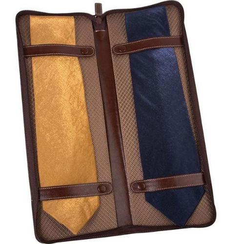 Изображение Чехол для галстуков Alessandro Venanzi коричневый