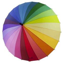 Изображение Зонт тростка Спектр 04 цвета (радуга), внушительный верхушка (106 см)