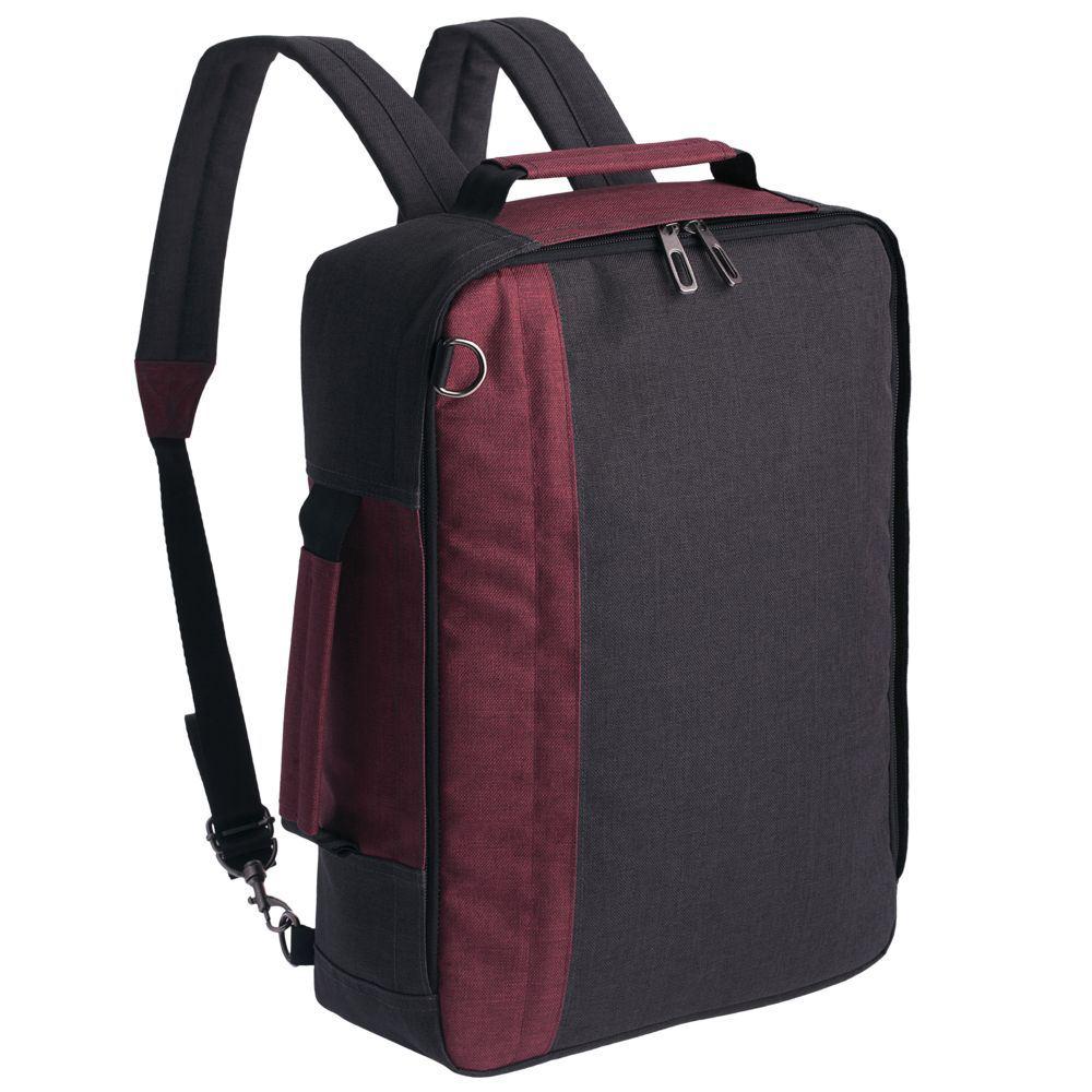 Рюкзак для ноутбука 2 в 1 twoFold, серый с бордовым от 3 226 руб