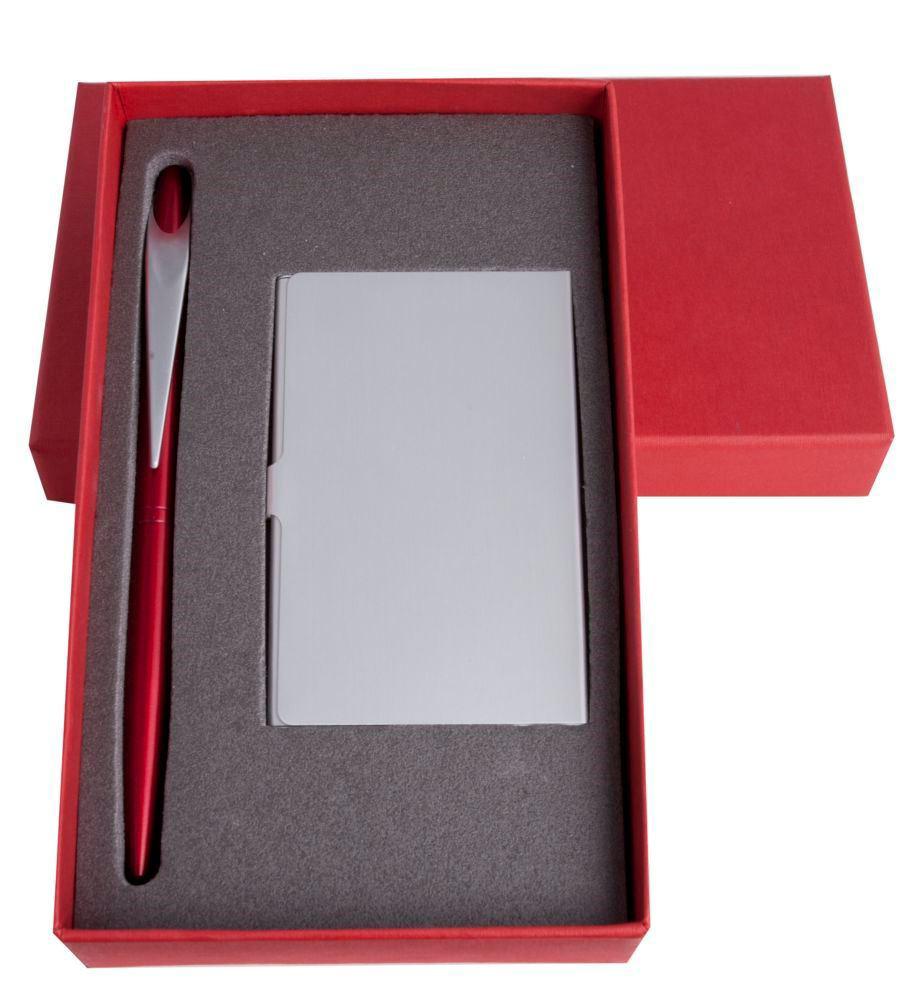 """Подарочный набор """"Join"""": визитница и шариковая ручка, красный от 524 руб"""