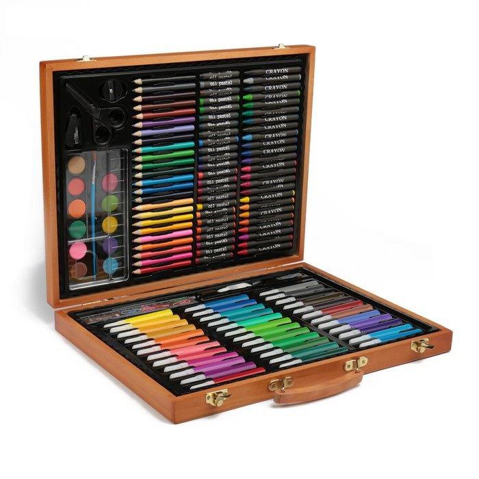 Набор для рисования в деревянном пенале, 150 предметов от 2 510 руб
